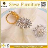 Anéis de guardanapo de cristal do diamante do casamento por atacado