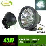 45W IP67 het LEIDENE 5inch Licht van het Werk met 3PCS 15W CREE LEDs