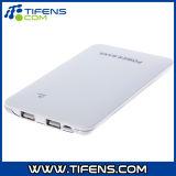 Banco de potência 10000mAh de energia portátil ultra-fino de cor branca para telemóvel PDA MP3
