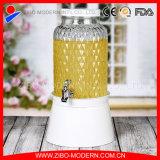 Оптовый подгонянный 5.8L стеклянный распределитель сока с краном