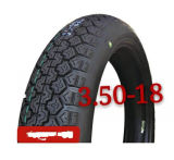 3.50-18 Leistungsstarkes Motorrad zerteilt Motorrad-Gummireifen/Motorrad-Reifen
