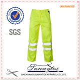Pantalon uniforme de vêtements de travail de Reflactive de piste de Mens de force de cargaison salut