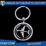 Trousseau de clés de nickelage d'OEM avec l'émail mol pour le porte-clés de souvenir