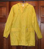 Workwearのコート100%年のポリエステルPVCレインコートをカスタマイズしなさい