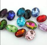 Jóias de Navette Rhinestone Beadspoint Vidro cristal para trás em cordões de cores (PB-Navette)