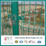 Cerca dobro do engranzamento de fio/cerca da alta segurança/painéis gêmeos da cerca de fio