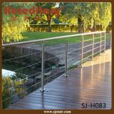 304/316 de balaustrada do aço inoxidável para os trilhos da plataforma do engranzamento de fio (SJ-H083)