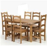 El asiento 6 juego de comedor con muebles de madera