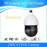 Camera PTZ van IRL van het Sterrelicht Hdcvi van kabeltelevisie van Dahua 2MP 25X de Waterdichte Openlucht Digitale Video (sd49225i-HC)