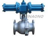 API de acero inoxidable tipo brida hidráulico válvula de bola de muñón
