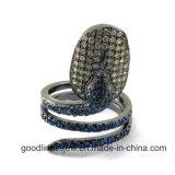 Il serpente ha modellato l'anello dei monili dell'argento sterlina 925 (R10119)