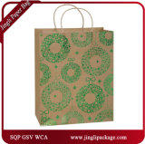 Grünes Folien-Geschenk sackt heiße stempelnde Papiergeschenk-Beutel-kaufenträger-Geschenk-Beutel ein