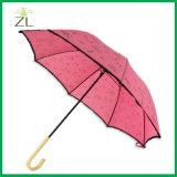 """Paraguas baratos de los cabritos de *8K de las muchachas rosadas 19 """" mini con la maneta torcida plástica para los niños"""