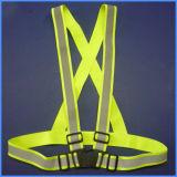 V-hals de Hoge Riem van het Vest van de Riem van de Veiligheid van het Zicht Weerspiegelende Dwars Elastische
