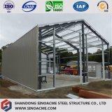 Construction légère d'entrepôt de structure métallique de coût bas