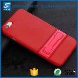 Cas de Kickstand de téléphone mobile de fibre de carbone pour Samsung S8/S8 plus