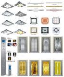 elevador panorâmico Gearless redondo do vidro 400kg-1600kg duro sem quarto da máquina (G02)