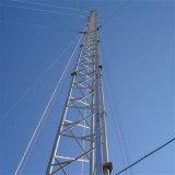 Оцинкованный трехстороннего парень провод Anemometry встретился мачты в корпусе Tower