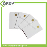 la tarjeta del contacto de la talla de la tarjeta de sle4442 SIM diseñó el espacio en blanco imprimible del PVC
