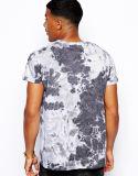 Poliestere 100% degli uomini di disegno All Over le magliette di stampa dell'annata di sublimazione