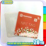 Escritura de la etiqueta de papel clásica de la etiqueta engomada de la impresión MIFARE 1K RFID de la insignia