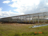 Structure en acier préfabriqués atelier/entrepôt de grande portée