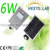6W todo em uma luz de rua solar do diodo emissor de luz