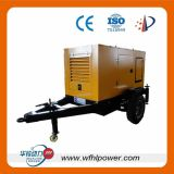Generador móvil diesel 10-500kw del acoplado