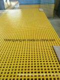 Reja lisa del plástico FRP de la aplicación de la plataforma del suelo de la calzada de Lowes