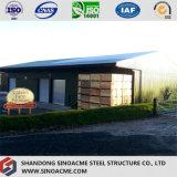 Entrepôt en acier de bâti portique léger préfabriqué avec l'écran
