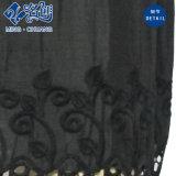 Camicetta allentata sexy delle signore di modo della maglia sexy nera del merletto