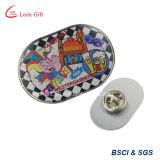 Kundenspezifisches GoldmetalldrehfirmenzeichenCmyk gedruckter Pin für Andenken