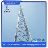 Pilar independiente Bts GSM tubular de la torre de telecomunicaciones de 3 patas.
