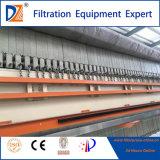 Schnelle-Openning Membranen-Filterpresse mit Tropfenfänger-Tellersegment für die Klärschlamm-Entwässerung