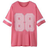 Mode Sexy Cotton/Polyester Embroidery T-Shirt pour Women (W007)