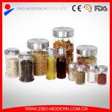 Populares 11PC comida de boca larga Candy Especiarias tempero frascos de armazenamento de vidro no conjunto de vidro