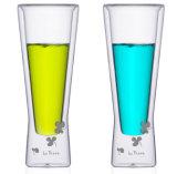 Tazze fredde della bevanda della tazza/tazza doppia creativa dell'acqua della spremuta della tazza del frappè