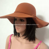 형식 Hat 끈 훈장과 큰 테두리를 가진 다채로운 가짜 모직 숙녀의