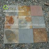 Natürlicher Außenseiten-Pflasterung-Stein zog rostigen Oberflächenschiefer ab