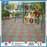 Im Freien Gummifliese-Spielplatz-Gummiziegelstein-bunter im Freien Gummibodenbelag