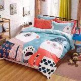 A alta qualidade 100% do algodão dos desenhos animados Bedsding ajustou-se para a HOME