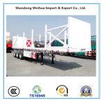 중국 반 60 톤 목제 수송을%s 낮은 침대 트레일러
