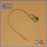 Catéter de Foley de látex revestido com silicone de alta qualidade de 2 caminhos ou 3 vias