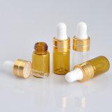 pequeña botella del cuentagotas 3ml del vidrio de petróleo esencial del perfume principal plástico de la botella (NBG1136)