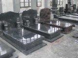 Lápide & monumento pretos do granito de Shanxi