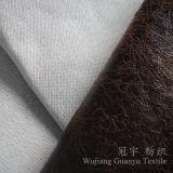 Tissu en cuir de Microfiber Chammy de polyester pour des usages de sofa