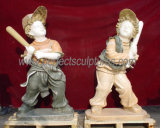 Statue en marbre taillée Statue en sculpture sur pierre pour décoration de jardin (SY-X1449)