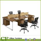 Estação de trabalho da equipe de funcionários de escritório das pessoas do frame 4 do revestimento do pó da alta qualidade