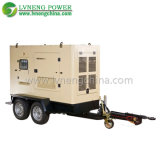 250kVA 침묵하 미끄럼에 의하여 거치되는 유형 디젤 엔진 가스 발전기