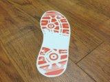 Стикер пола следа ноги изготовленный на заказ собственной личности печатание полного цвета размера дешевой слипчивый съемный